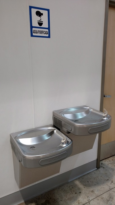 Water fountains you can drink from!