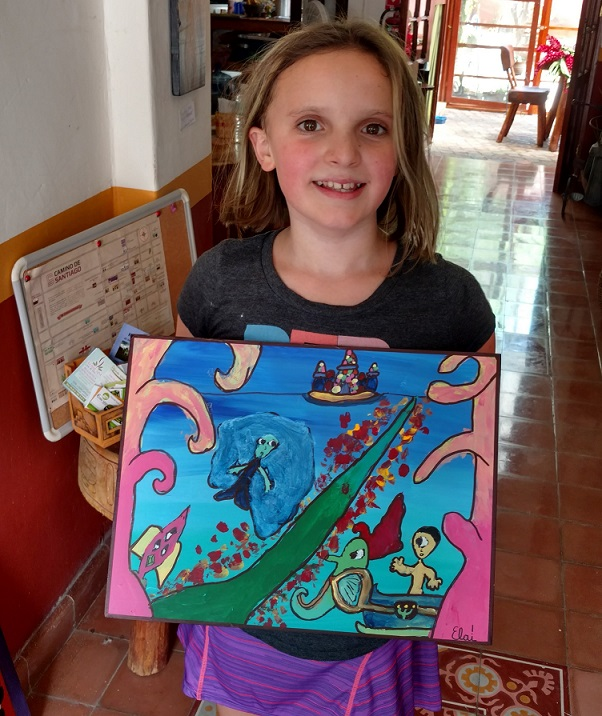 Ela and her Mythological Seascape
