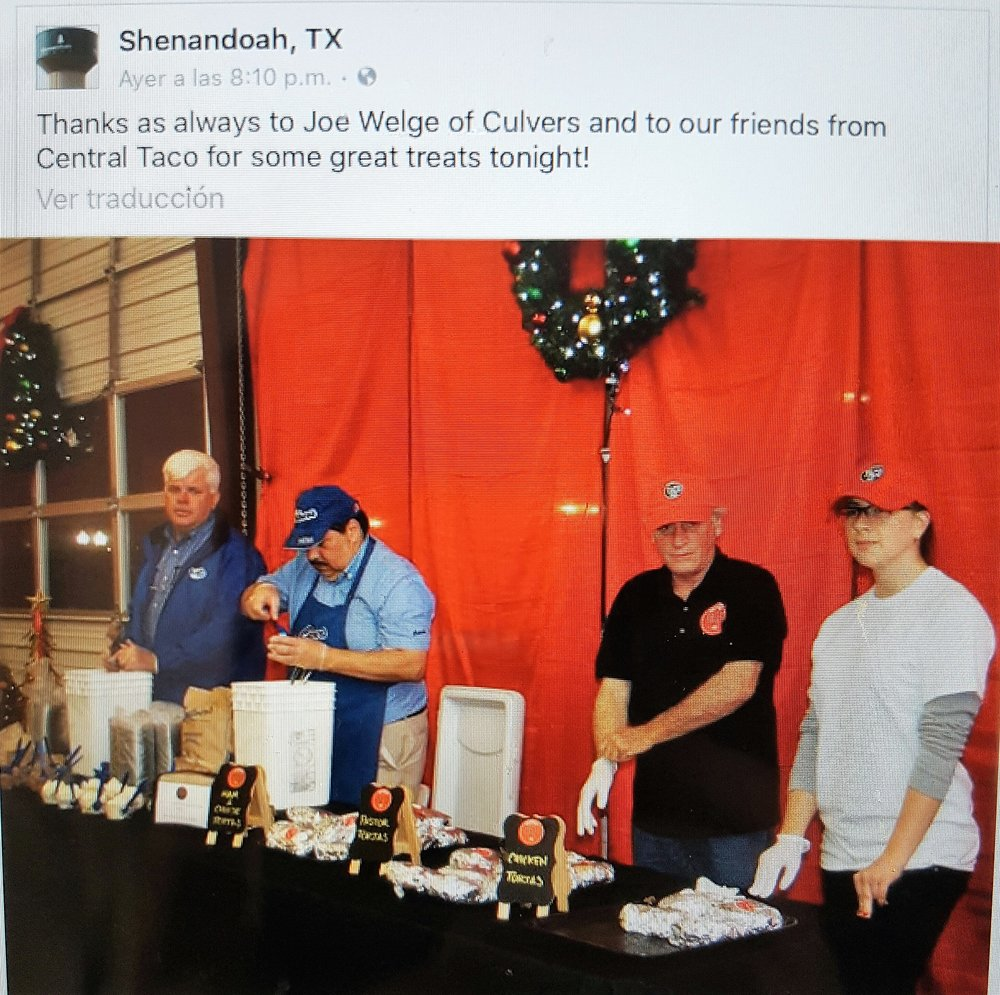 IT´S A PLEASURE FOR CENTRAL TACO TO BE A PART OF SHENANDOAH COMMUNITY !!
