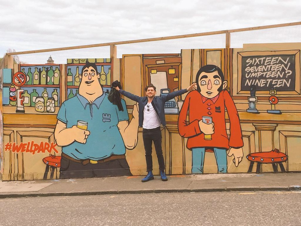 Bobby and Paul art in Edinburgh