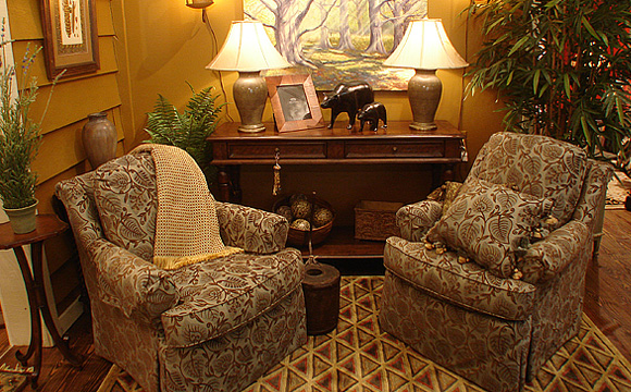 All upholstery comes from North Carolina manufacturers of the highest quality, with extensive fabric options.