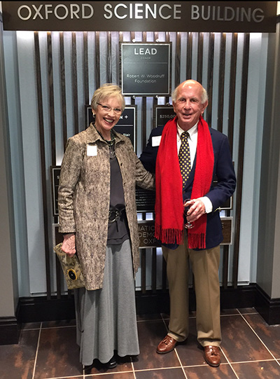 Barry and Paula Jones at the gala presentation of the historic table to Oxford at Emory.