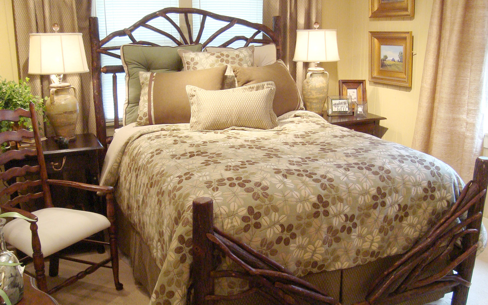 We have a wide variety of handcrafted bedroom furniture by our own Tiger Mountain Woodworks, utilizing hickory, laurel and barn wood on display in our showrooms.