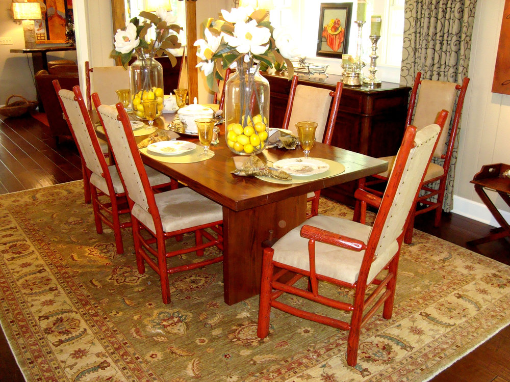 Make a selection from a wide assortment on our sales floor  or customize  your piece. Dining Room   The Summer House
