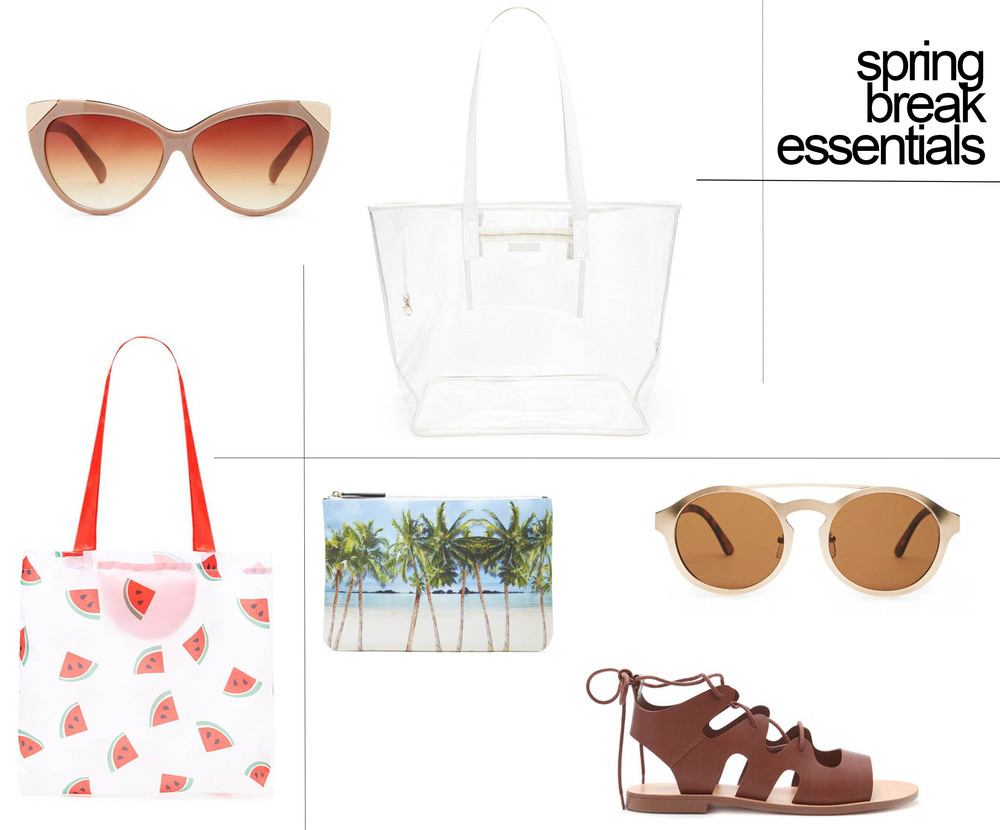 cat eye sunnies | clear tote | watermelon tote | palm pouch | matte sunnies | sandals