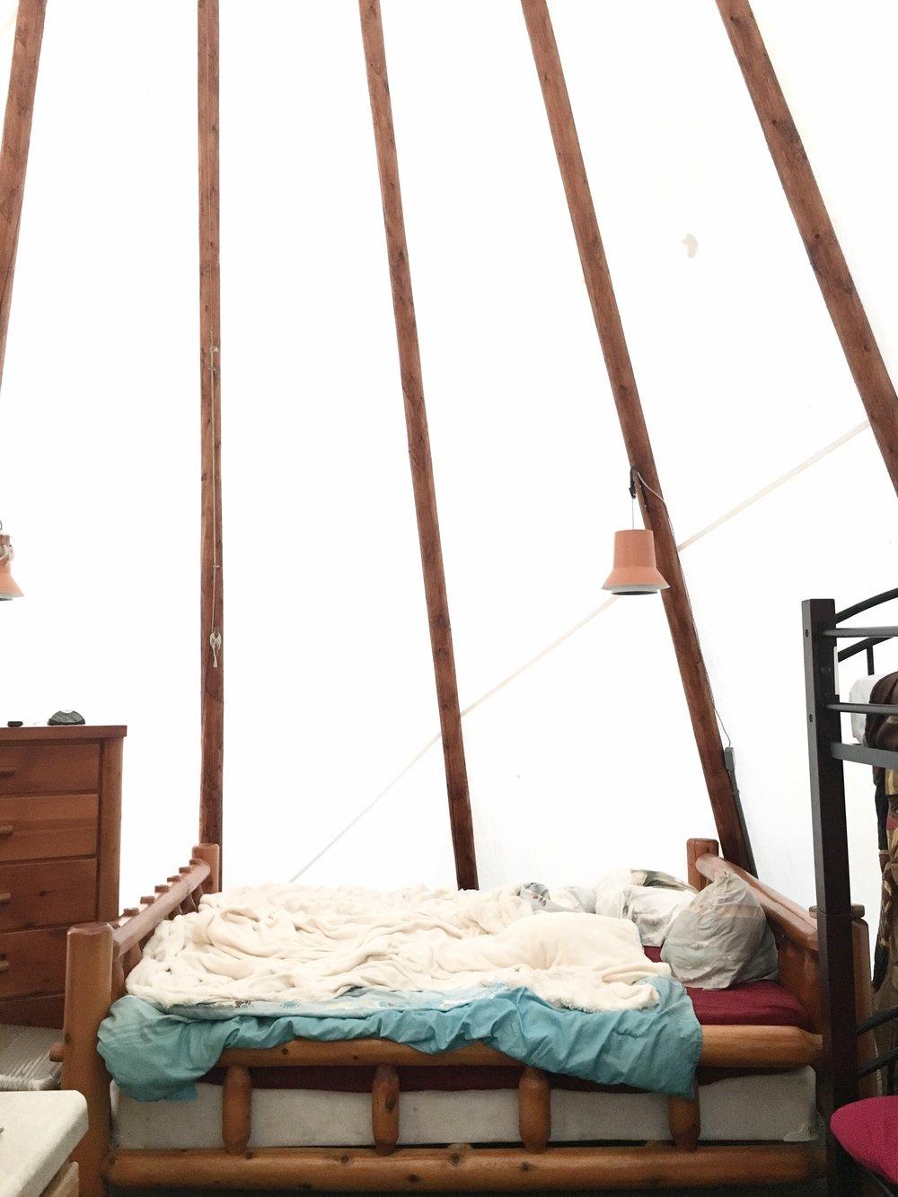 our adorable sleep area.