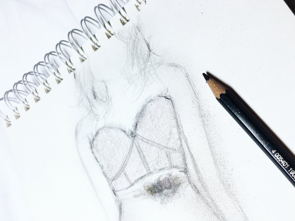 quick dress sketch. stay tuned!