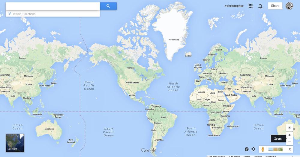 google map screen