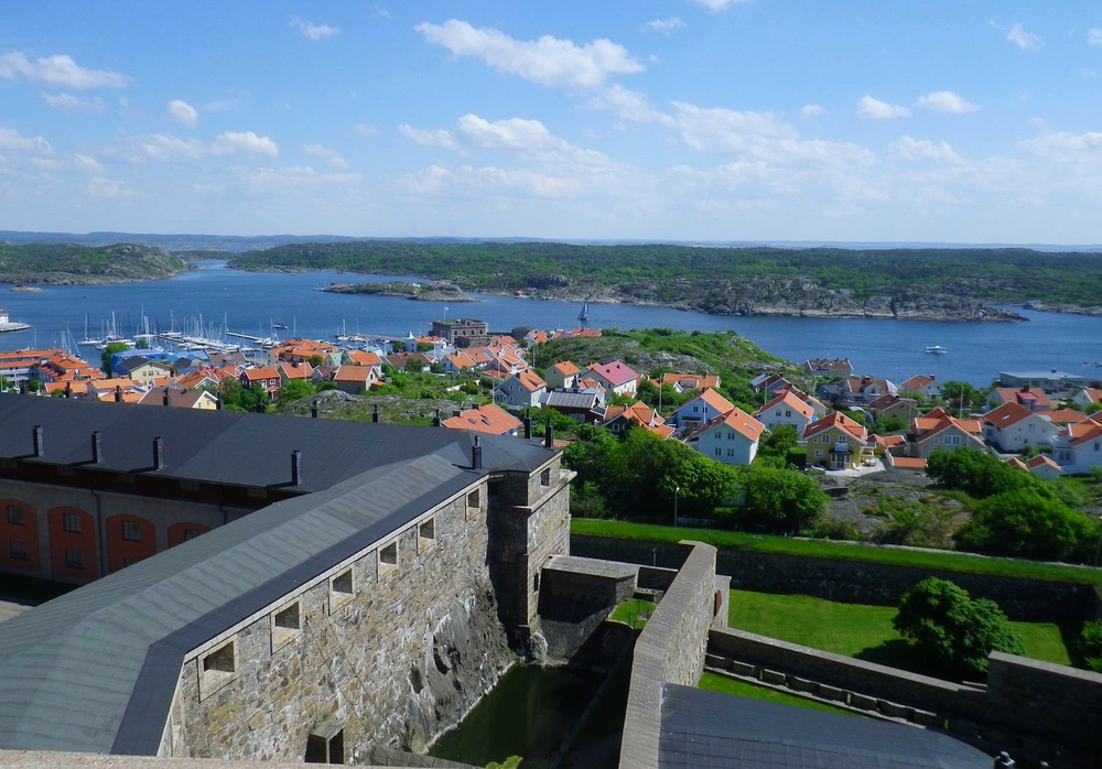 View from Carlsten, overlooking Marstrand