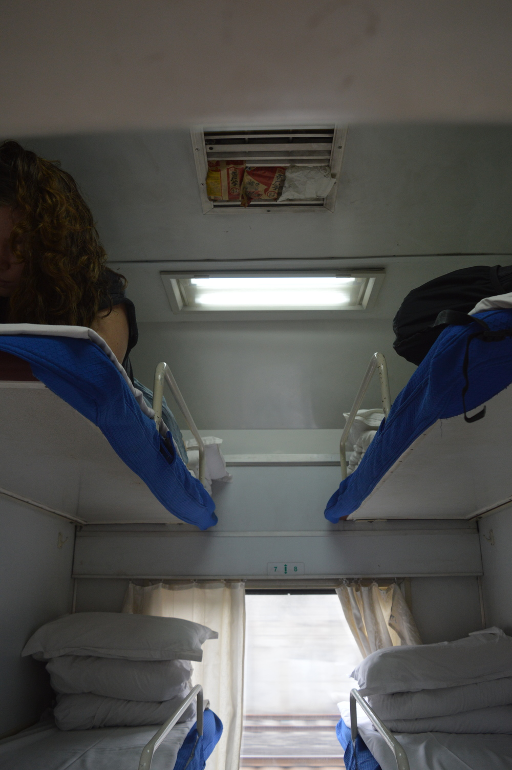 """cozy"" and ""clean"" on the train in southern China."
