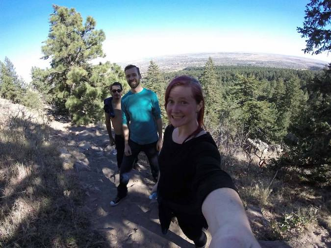 Here's a photo of my friend Ellie from  Poor and in Danger  adventuring with folks from the app!
