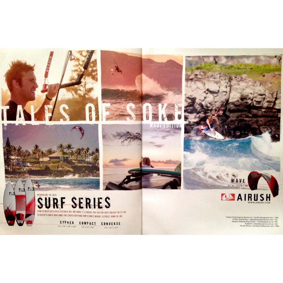 "Airush Surf Series Ad announcing our Maui Kite surfing movie ""Tales of Stoke"""