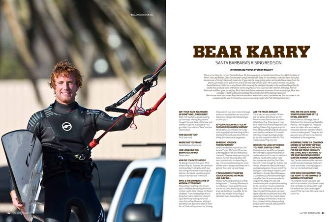 SBC kite magazine article. shot by Jason Wolcott.