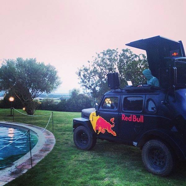 Spinnin in the Red Bull DJ Truck In ital.