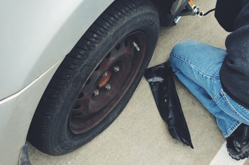 AND MY TIRE EXPLODED
