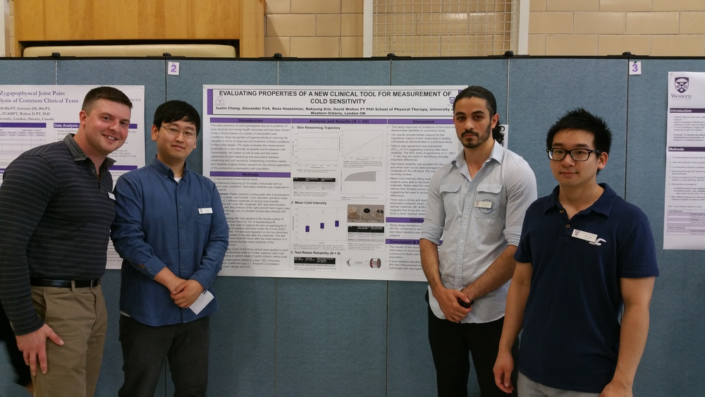 Alex Fick, Nakyung Kim, Reza Hosseinian and Justin Cheng: Evaluating Properties of a New Clinical Tool for Measurement of Cold Sensitivity