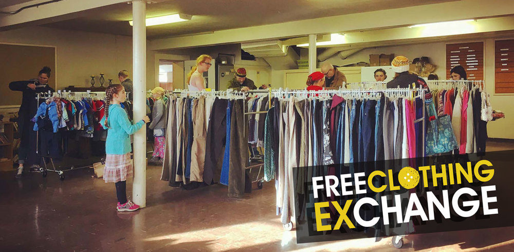 Small, but mighty. That's how you could describe the Winter Free Clothing Exchange.
