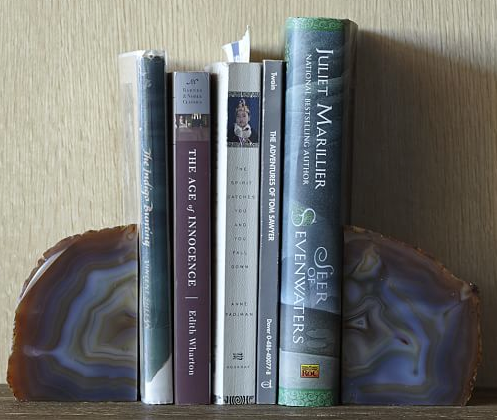 West Elm Agate Bookends $44