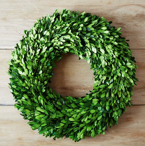 West Elm Boxwood Round Wreath $30-$80