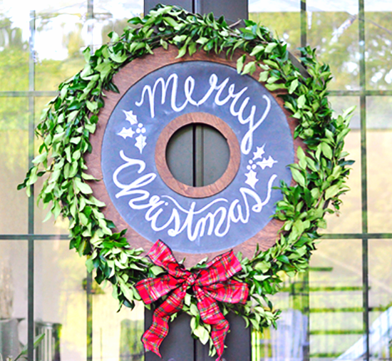 Home Depot Chalkboard Wreath DIY