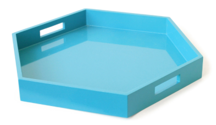 Jonathan Adler  Lacquer Hexagon Tray  $175