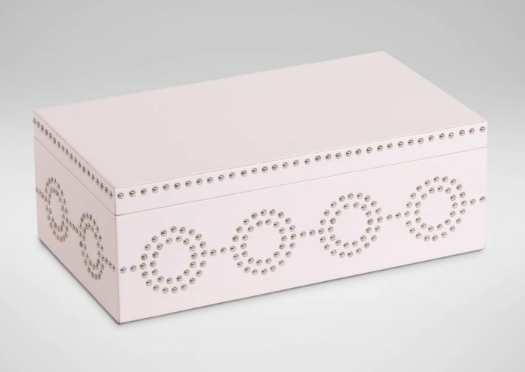 Ethan Allen  Blush Nail Deco Box  $209