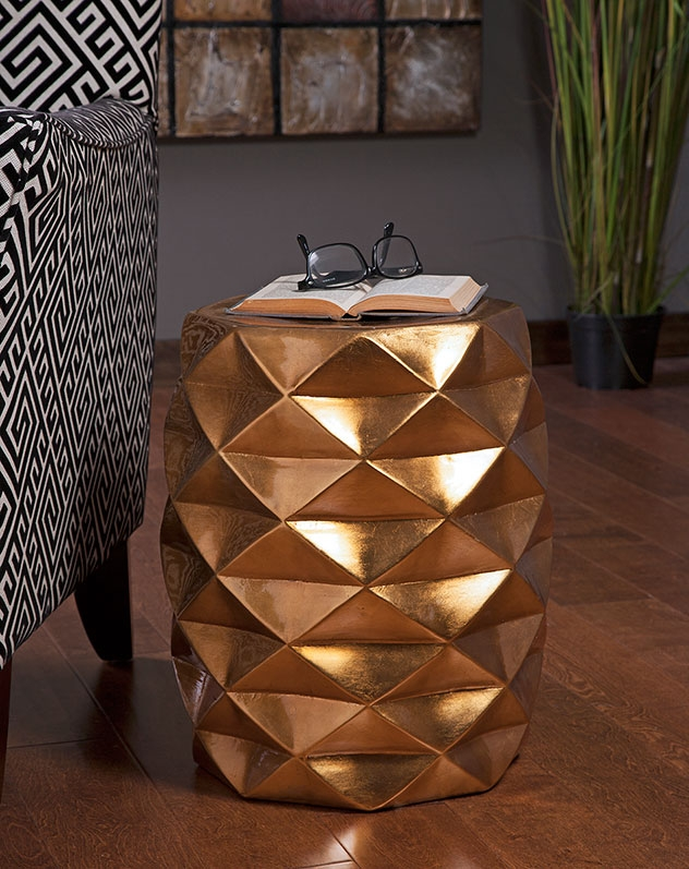 Imax Geometric Garden Stool $170   Available through your designer