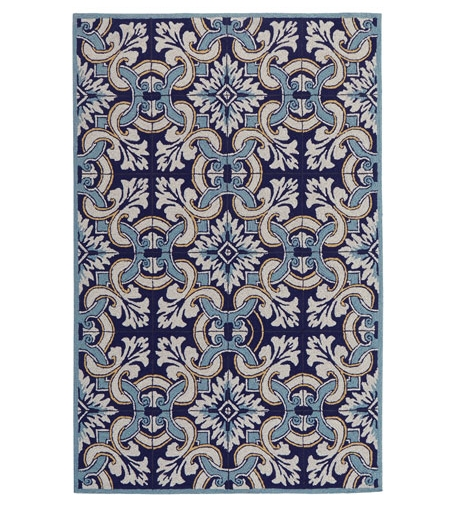 Horchow  Paige Floral Indoor/Outdoor Rug  $800