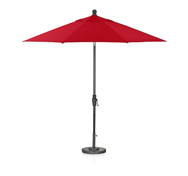 Crate & Barrel  9' Round Sunbrella Umbrella  $329
