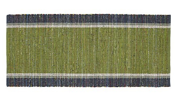 Crate & Barrel -  Quentin Green Cotton Rug  $50