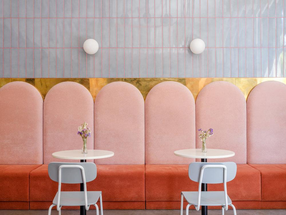 Breadway café in Odessa, Ukraine  (via Design Milk)