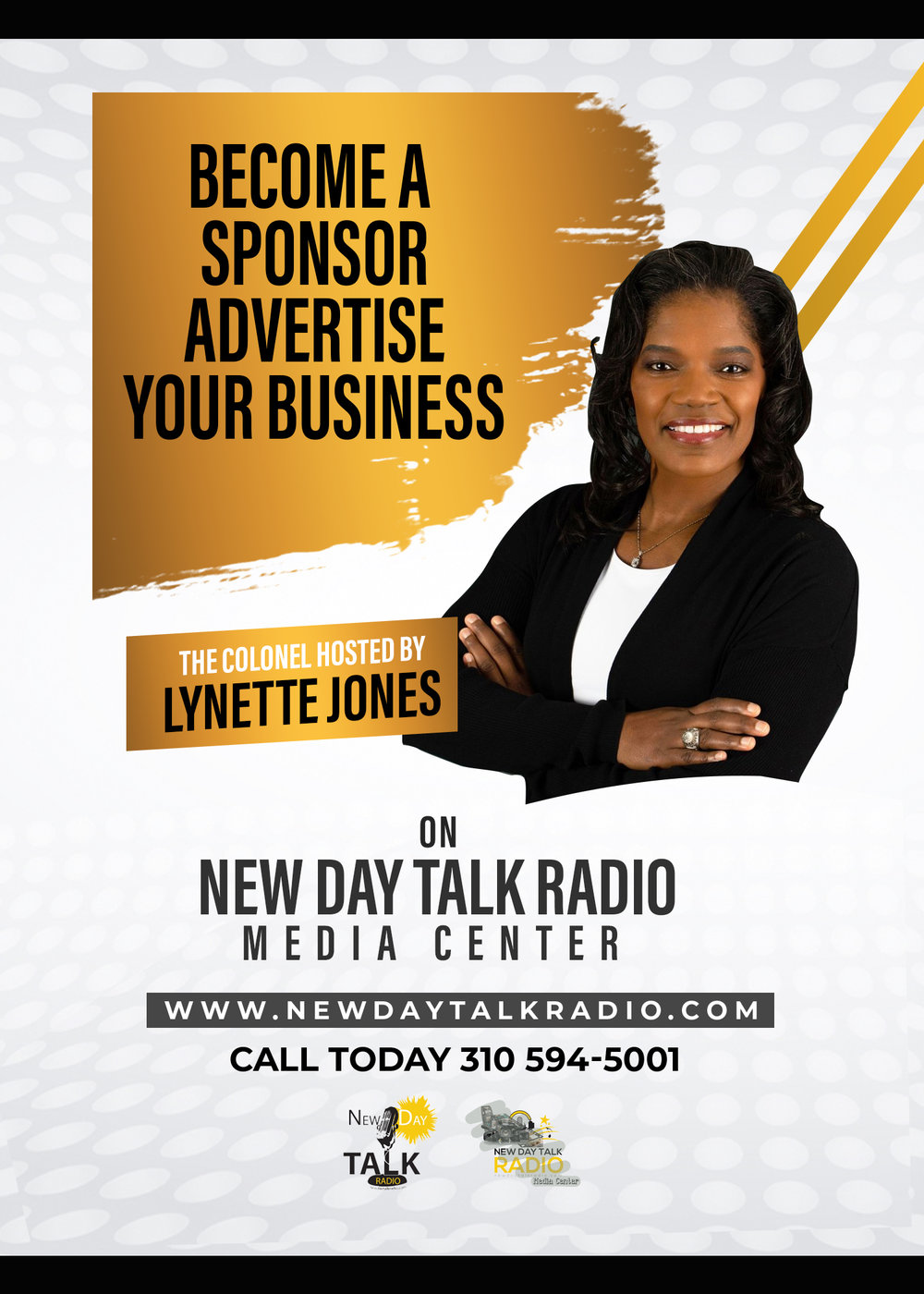 """Lynette Jones  - Show Host - Director - Filmmaker - Actress. CEO of  New Day Talk Radio Media Center . """" The beauty of your dreams is that you can duplicate them into Reality"""". -  Lynette Jones"""