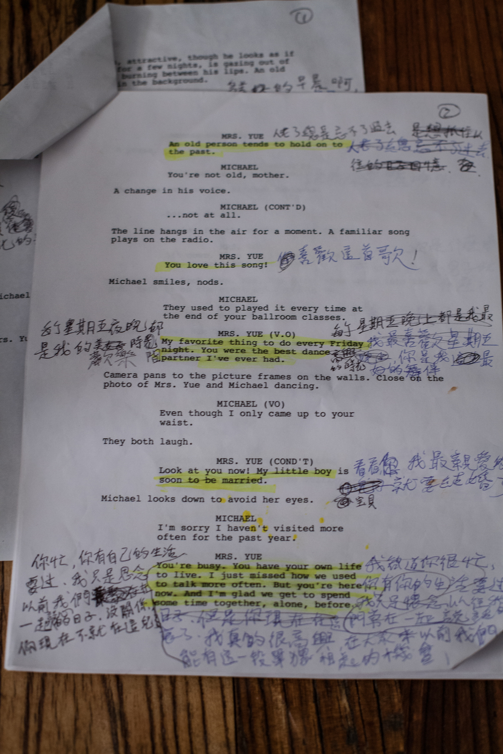 The shooting script.