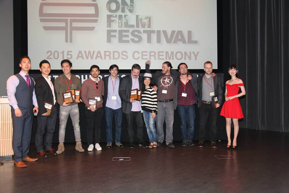 Director Leon Le accepting Best Director, Best Drama and Best Original Score awards at the Asians on Film Festival 2015 in Los Angeles.