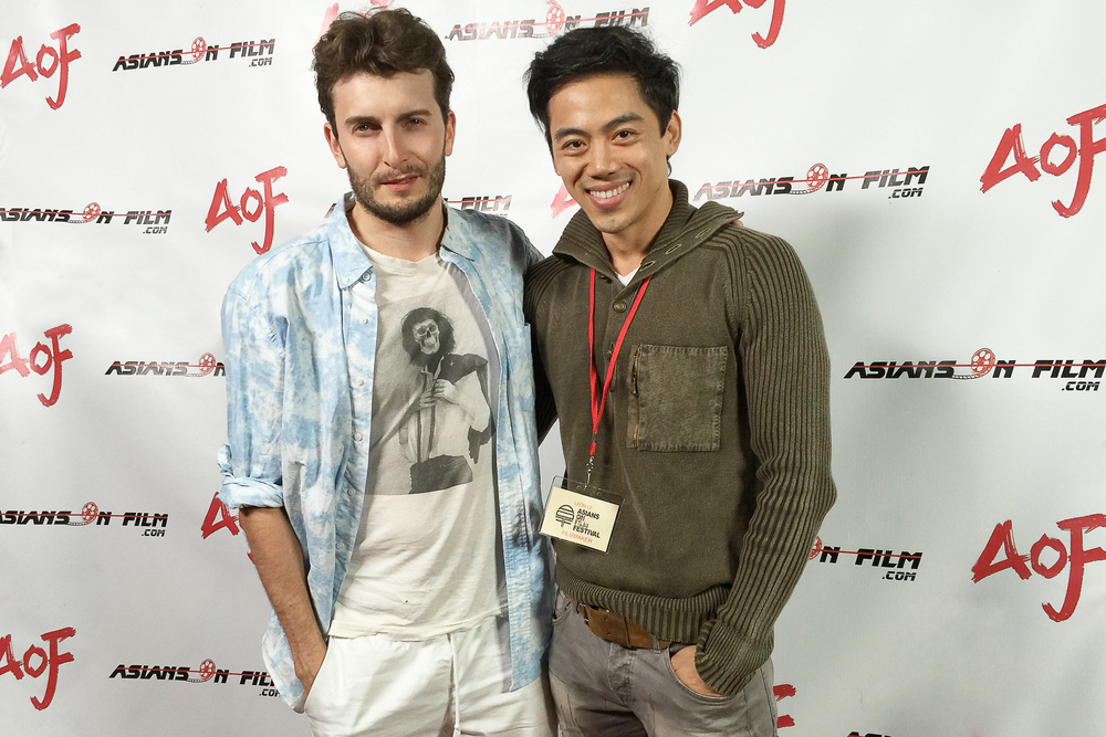 Actor Cameron Moir and director Leon Le at the Asians on Film Festival 2015 in Los Angeles.