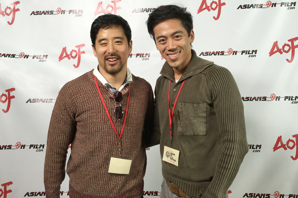 Actor/Director Seung-Hyun Chong (recipient of Best Actor award) and director Leon Le at the Asians on Film Festival 2015 in Los Angeles.