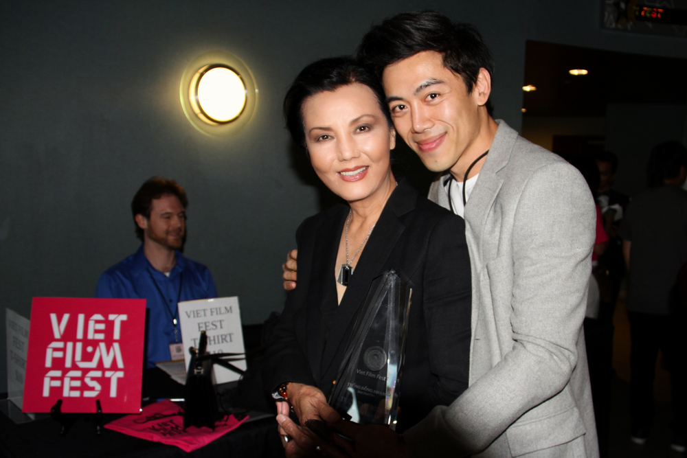 Director Leon Le and Vietnamese legendary actress Kieu Chinh at the Viet Film Fest 2015.