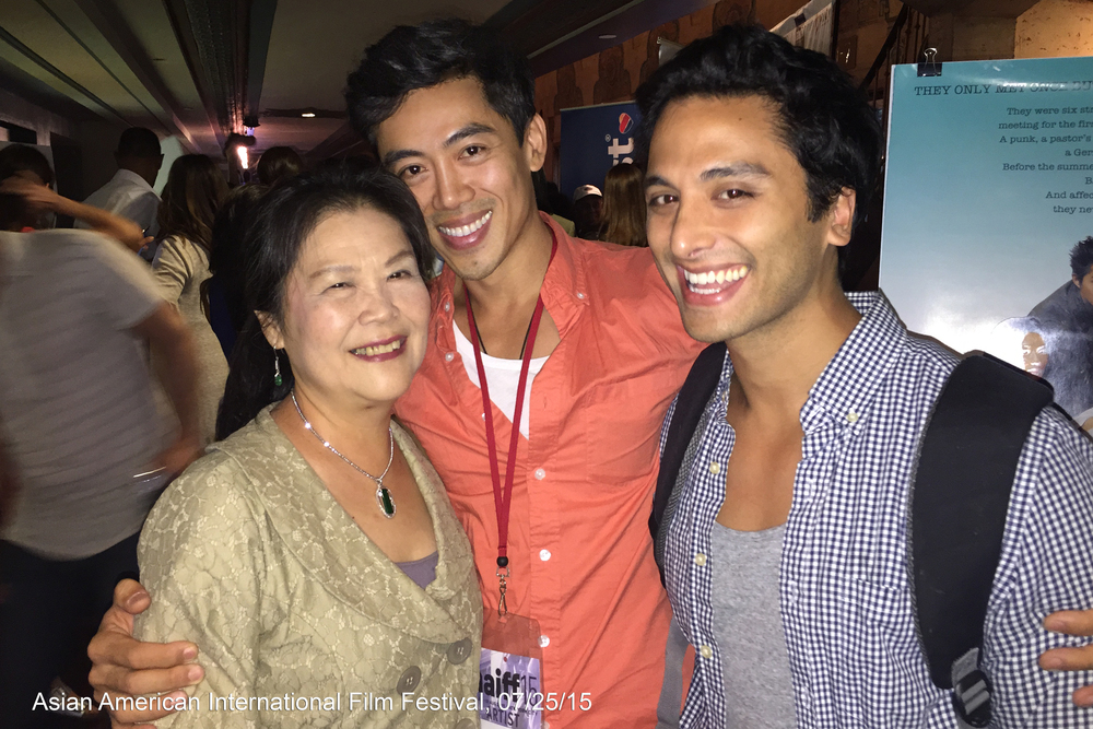 Actress Min-Wen Huang, director Leon Le and Thomas Ling at the Asian American International Film Festival screening in New York City, 07/25/2015.