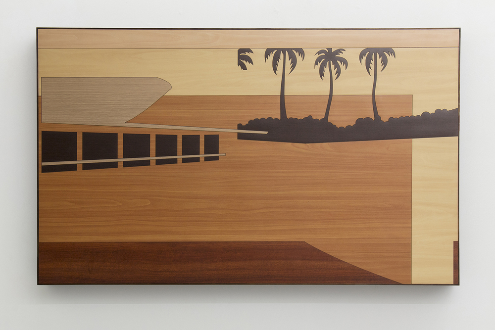 Brazilian Landscape 2 • 2013/2014 • Laser cut melaminelaminate (Formica)• 33.5 x 55.3in