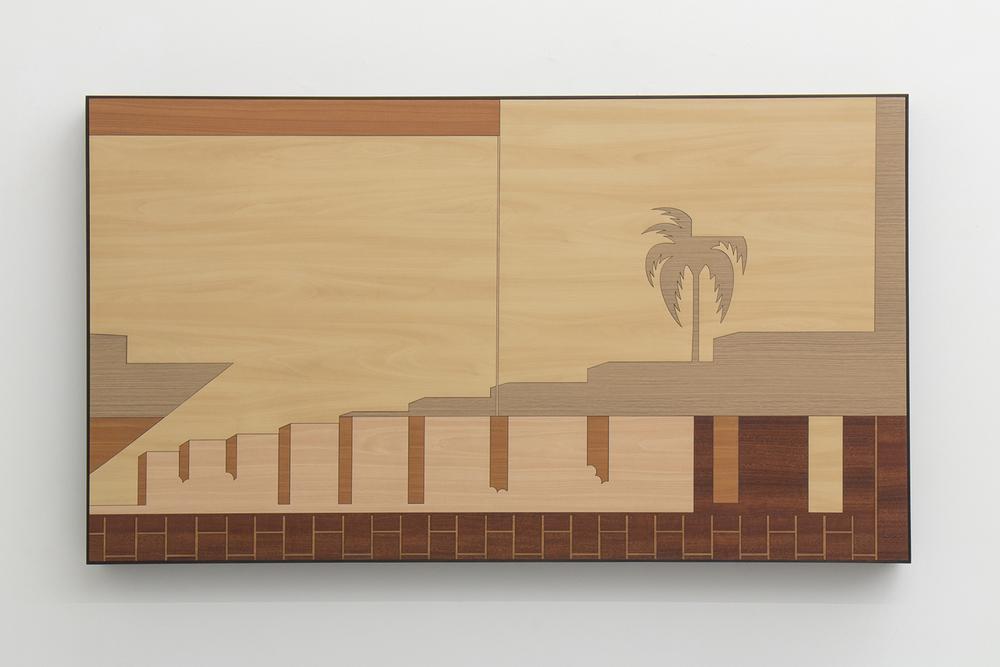 Brazilian Landscape 5 • 2013/2014 • Laser cut melaminelaminate (Formica)•31.1 x 55.5 in