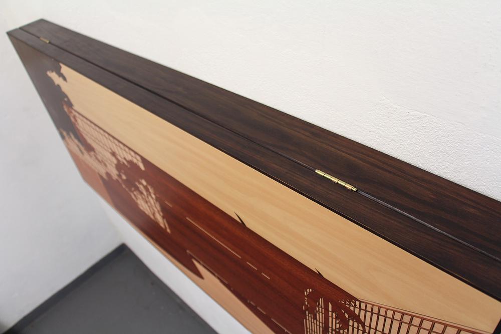 Paisagem Brasileira 1 (detalhe) • 2013/2014 • Laminado  Melamínico  (Fórmica) cortado à laser • 63,5 x 140,5 cm