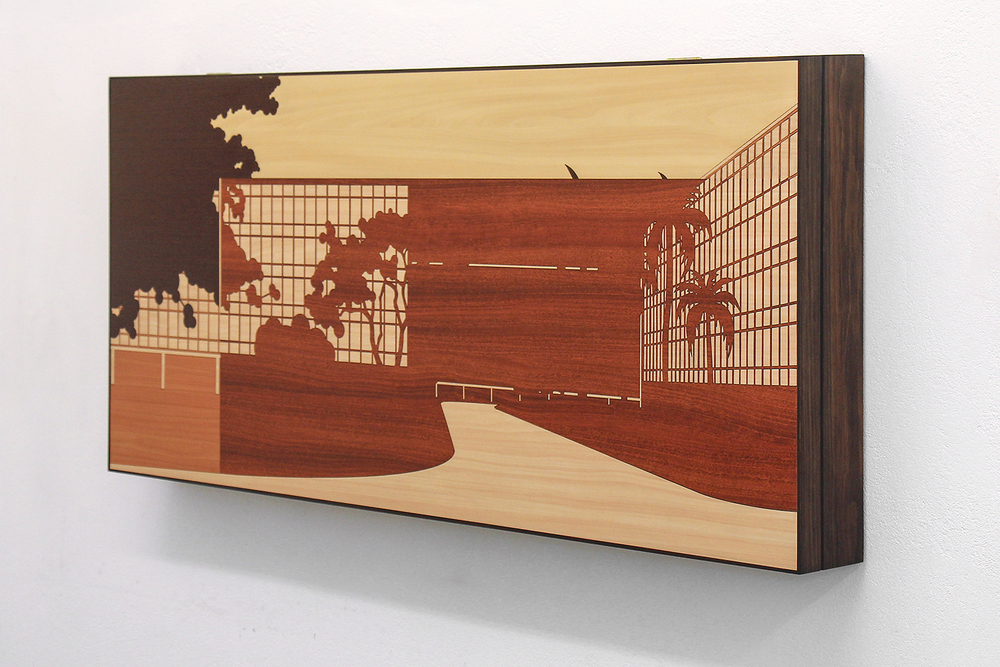 Brazilian Landscape 1 • 2013/2014 • Laser cut melam  ine   laminate (Formica)   • 25 x 55.3   in • Instituto Figueiredo Ferraz Collection, Ribeirão Preto
