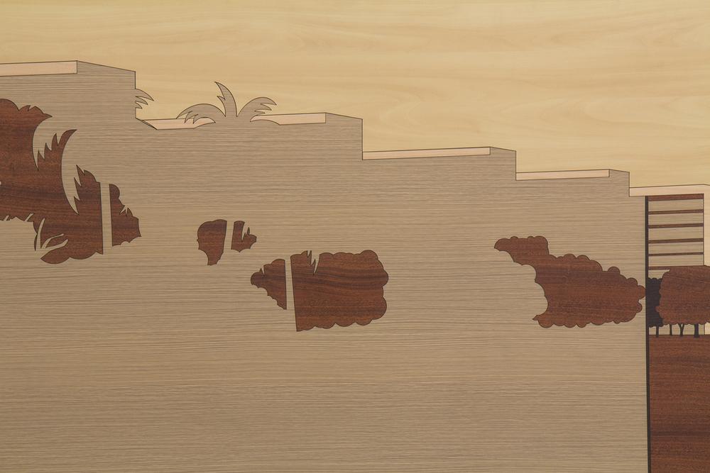 Brazilian Landscape 3 (detail)• 2013/2014 • Laser cut melamine  laminate (Formica)  • 31.7 x 59.25  in