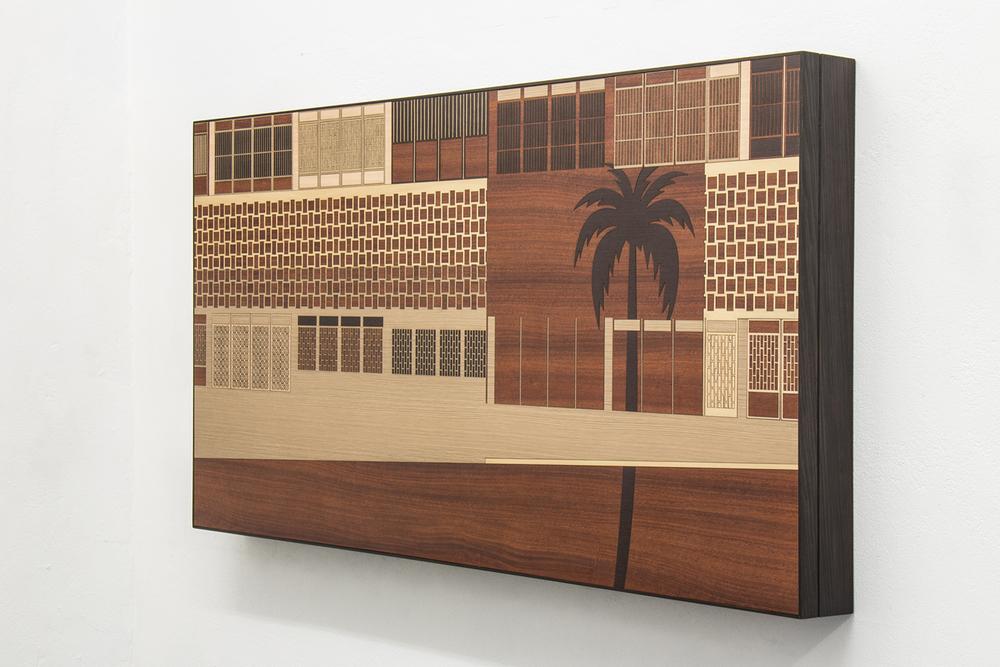 Paisagem Brasileira 4 • 2013/2014 • Laminado Melamínico (Fórmica) cortado à laser • 79 x 149 cm