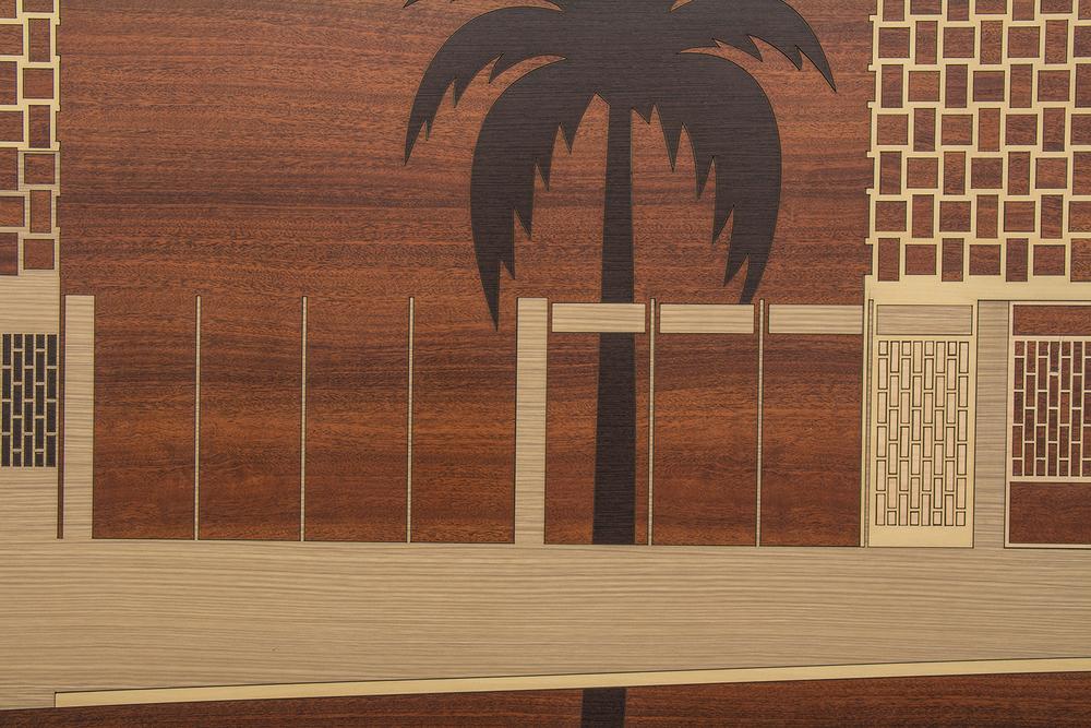 Brazilian Landscape 4 (detail)• 2013/2014 • Laser cut melamine  laminate (Formica)    • 31.1 x 58.7 in