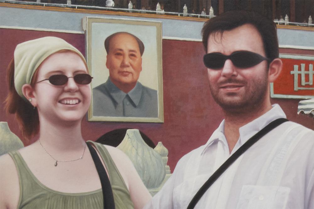 Notícias de Lugar Nenhum (Made in China) (detalhe) •  2010 •  40 óleos sobre tela• 37 x 50 cm (cada)• Coleção MAC-USP - Museu de Arte Contemporânea da Universidade de São Paulo
