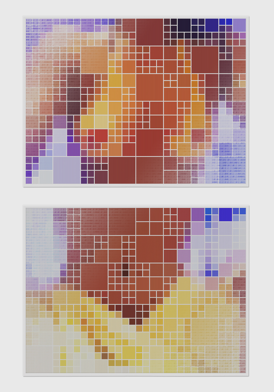 Nu Binário #5 •2005 •Fotografia, impressão lenticular •60 x 80 cm (cada)
