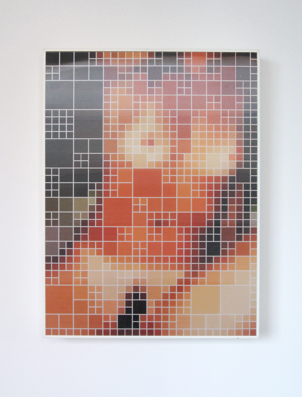 Binary Nude #1 •   2005 •   Photograph, lenticular print •   19.6   x 14.5 in   • (central point of view)