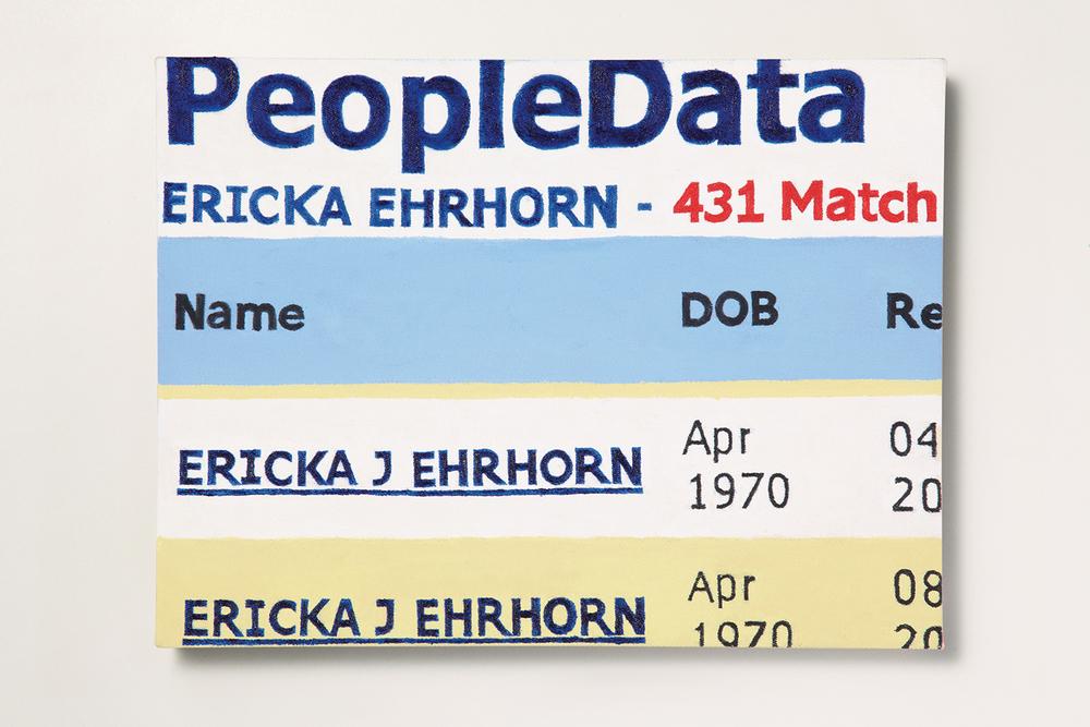 Search: Ericka // #02 // A Data de Nascimento• 2009 • Óleo sobre tela •30 x 40 cm •  Coleção MAM - Museu de Arte Moderna de São Paulo