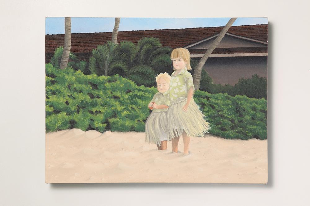 Search: Ericka // #09 // Menininha• 2009 • Óleo sobre tela •30 x 40 cm •  Coleção MAM - Museu de Arte Moderna de São Paulo